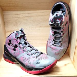 Under Armour Mens Purple Pink Gray Ankle Boots